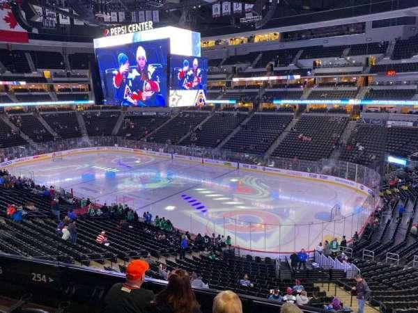 Pepsi Center, sección: 254, fila: 4, asiento: 11