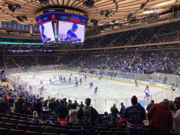 Madison Square Garden, sección: 120, fila: 18, asiento: 17
