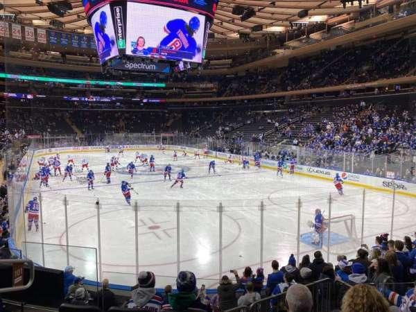 Madison Square Garden, sección: 101, fila: 10, asiento: 5