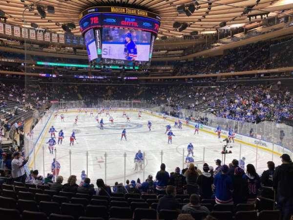 Madison Square Garden, sección: 101, fila: 15, asiento: 15
