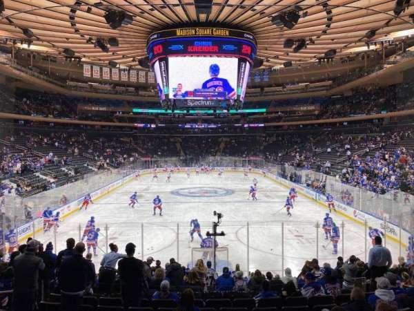 Madison Square Garden, sección: 102, fila: 14, asiento: 10