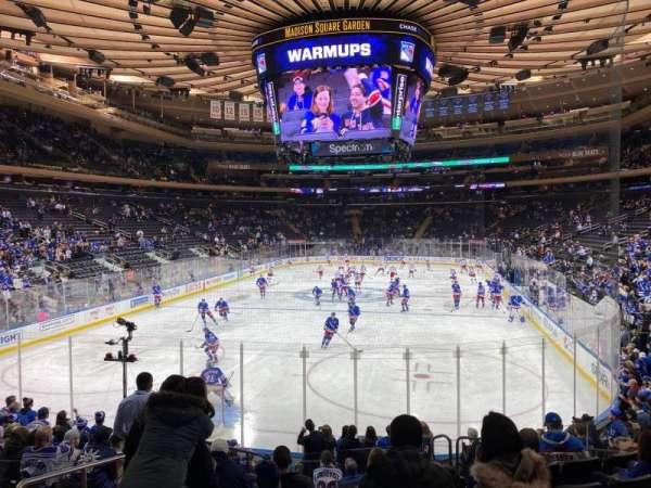 Madison Square Garden, sección: 103, fila: 12, asiento: 3