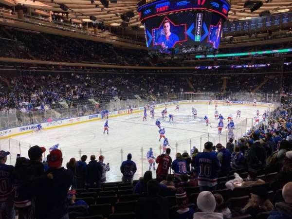 Madison Square Garden, sección: 104, fila: 15, asiento: 5