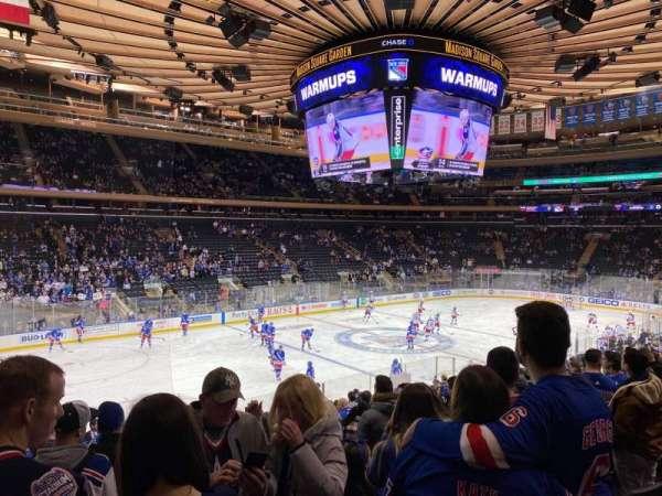 Madison Square Garden, sección: 105, fila: 18, asiento: 5
