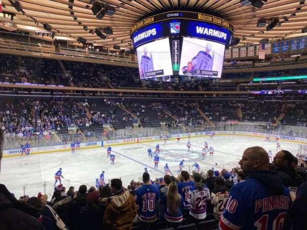 Madison Square Garden, sección: 105, fila: 19, asiento: 10