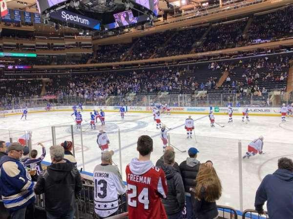 Madison Square Garden, sección: 109, fila: 6, asiento: 1
