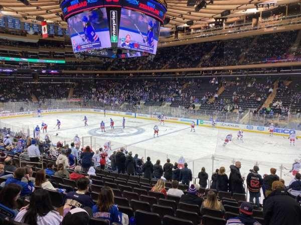 Madison Square Garden, sección: 109, fila: 16, asiento: 20