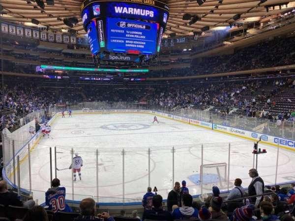 Madison Square Garden, sección: 111, fila: 11, asiento: 13