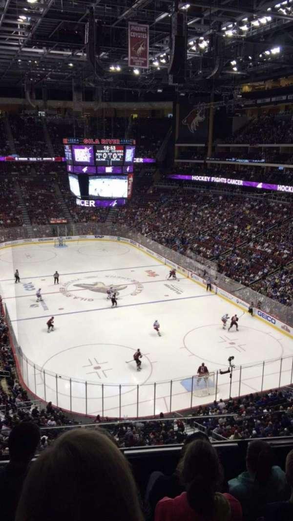 Gila River Arena, sección: 225, fila: D, asiento: 5