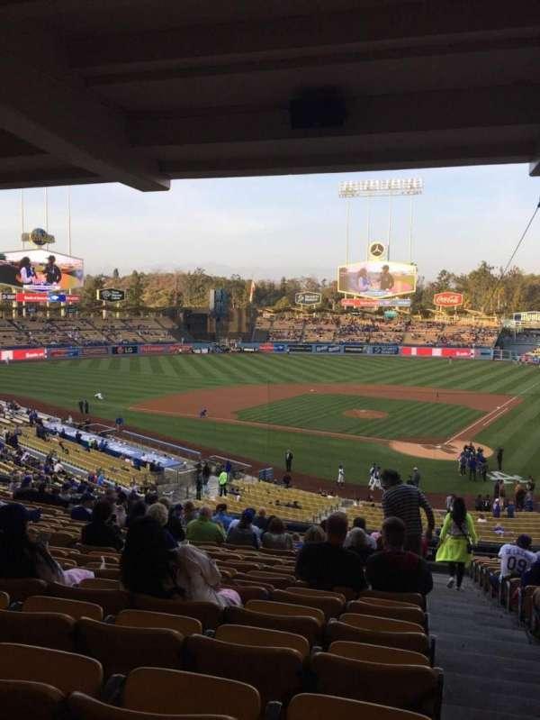 Dodger Stadium, sección: 113LG, fila: T, asiento: 1