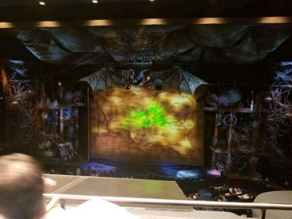 Gershwin Theatre, sección: Front Mezzanine C, fila: B, asiento: 115