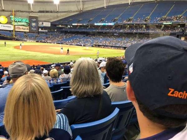 Tropicana Field, sección: 127, fila: V, asiento: 1