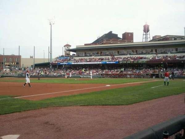 Fifth Third Field (Dayton), sección: 114, fila: 1, asiento: 30