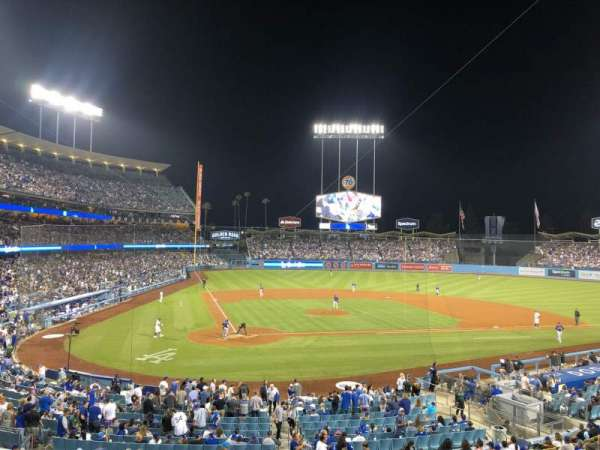 Dodger Stadium, sección: 116LG, fila: D, asiento: 5
