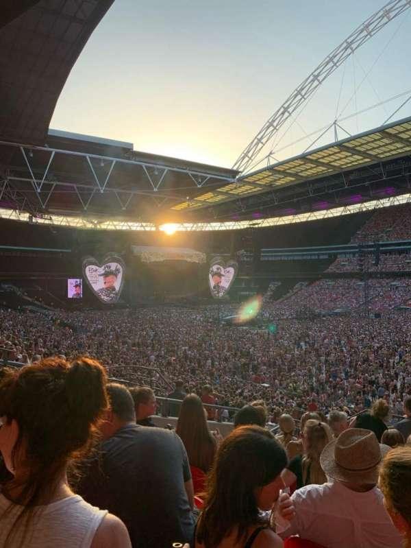 Wembley Stadium, sección: 118, fila: 40, asiento: 178