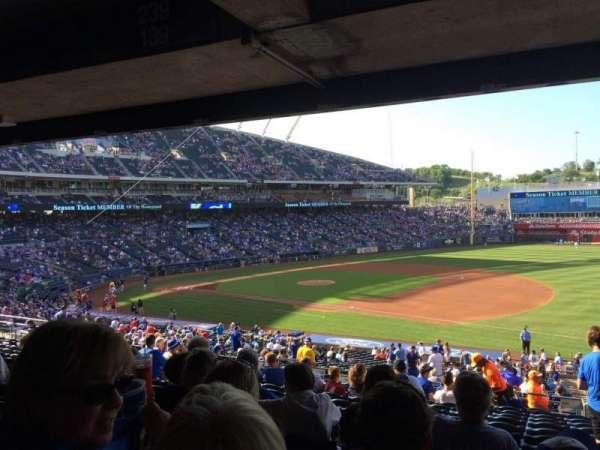 Kauffman Stadium, sección: 239, fila: PP, asiento: 11