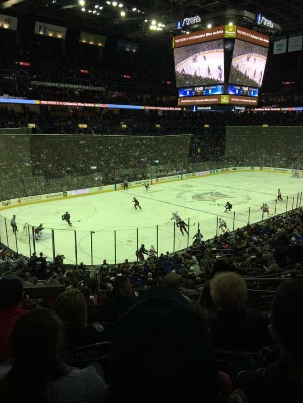 Nationwide Arena, sección: 117, fila: GG, asiento: 4