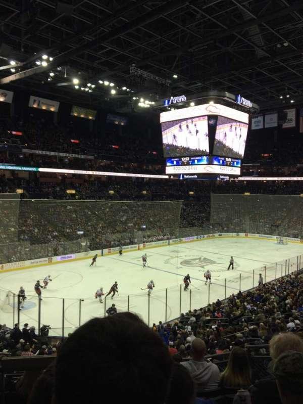 Nationwide Arena, sección: 117, fila: GG, asiento: 5