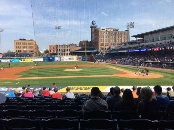 Fifth Third Field, sección: 107, fila: S, asiento: 12