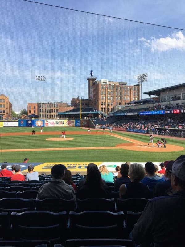 Fifth Third Field, sección: 107, fila: S, asiento: 11