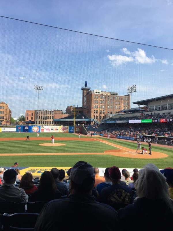 Fifth Third Field, sección: 107, fila: S, asiento: 10
