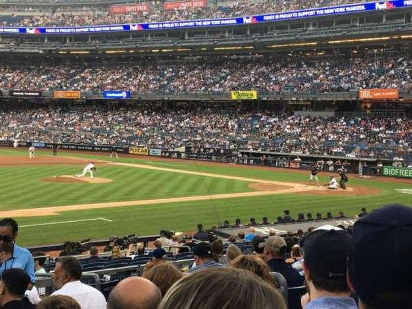 Yankee Stadium, sección: 126, fila: 10, asiento: 5