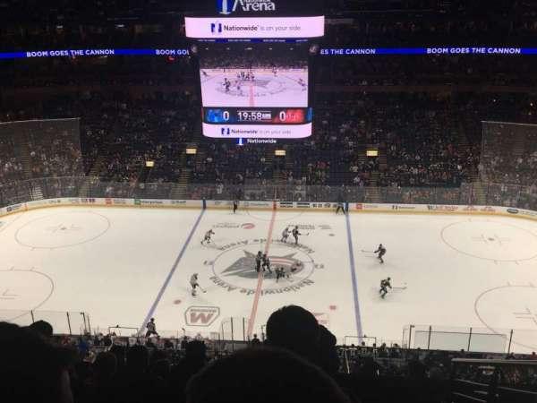 Nationwide Arena, sección: 203, fila: J