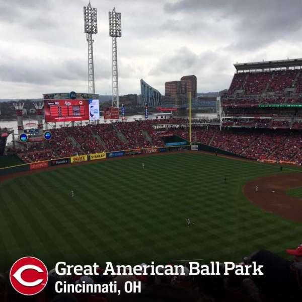 Great American Ball Park, sección: 111, fila: O, asiento: 4
