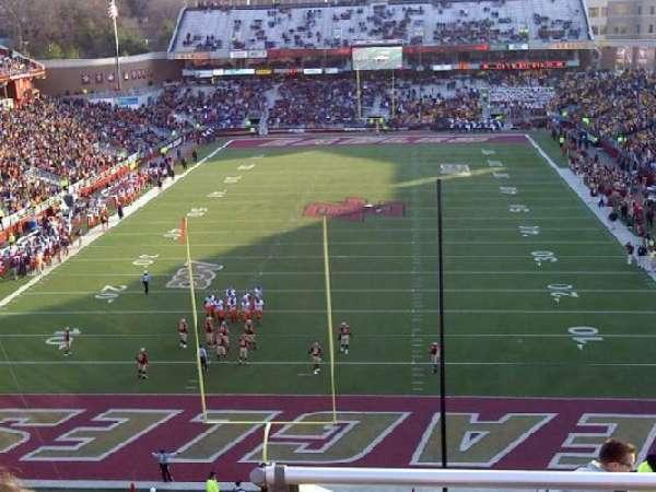 Alumni Stadium, sección: XX, fila: 11, asiento: 15