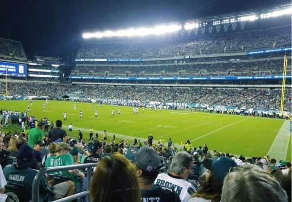 Lincoln Financial Field, sección: 106, fila: 20, asiento: 24