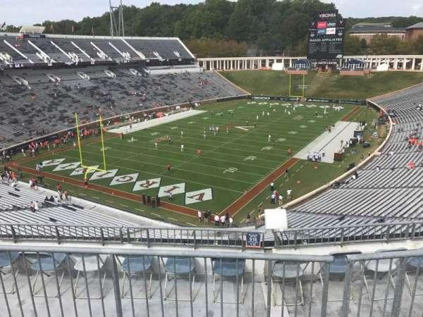 Scott Stadium, sección: 516, fila: F, asiento: 9