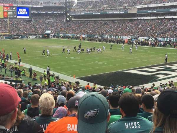 Lincoln Financial Field, sección: 126, fila: 26, asiento: 9