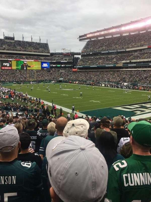 Lincoln Financial Field, sección: 126, fila: 26, asiento: 9