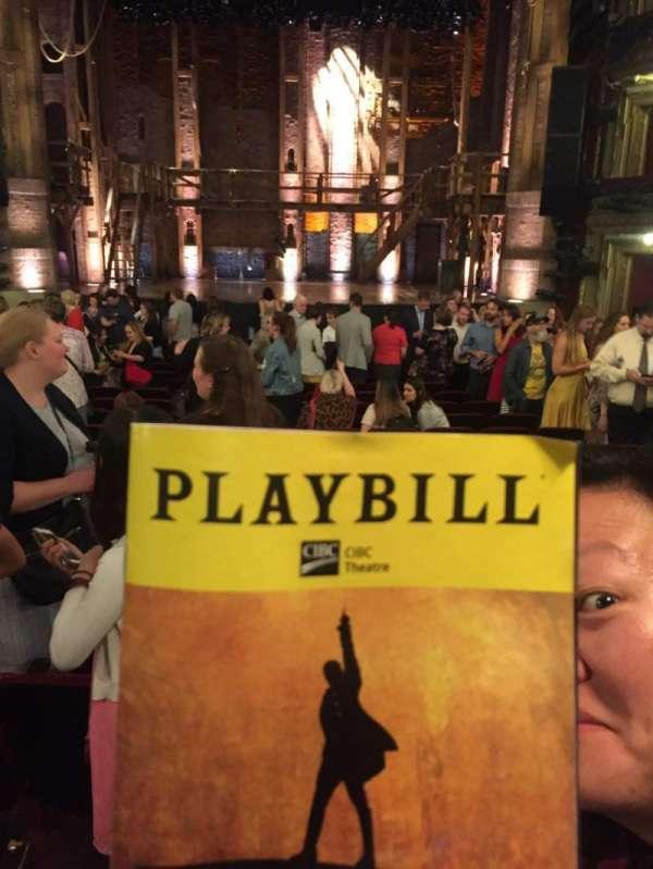 CIBC Theatre, sección: Orch C, fila: V, asiento: 111
