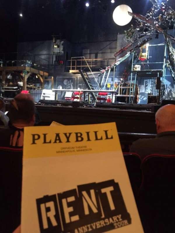 Orpheum Theatre (Minneapolis), sección: MF2, fila: D, asiento: 11