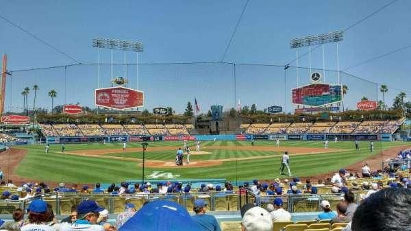 Dodger Stadium, sección: 2FD, fila: k, asiento: 10
