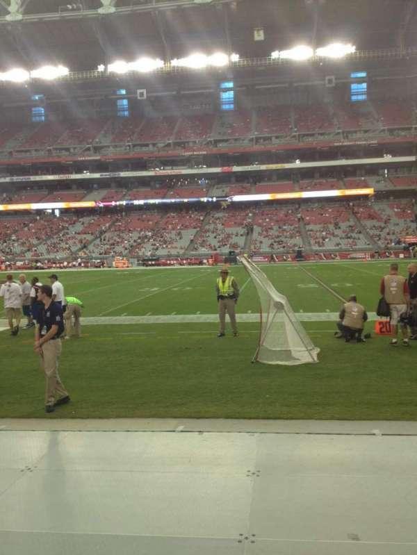 State Farm Stadium, sección: 127, fila: 1, asiento: 10
