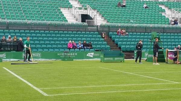 Nottingham Tennis Centre, sección: West Stand, fila: B, asiento: 58