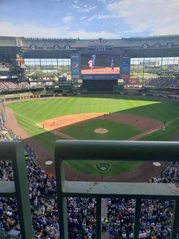 American Family Field, sección: 422, fila: 1, asiento: 9