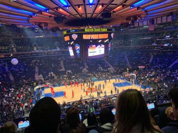 Madison Square Garden, sección: 210, fila: 4, asiento: 9