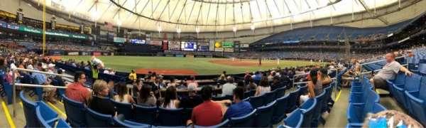 Tropicana Field, sección: 125, fila: K, asiento: 4