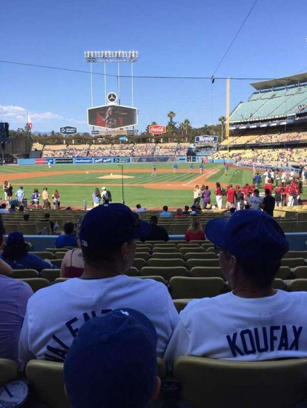 Dodger Stadium, sección: 7FD, fila: L, asiento: 6