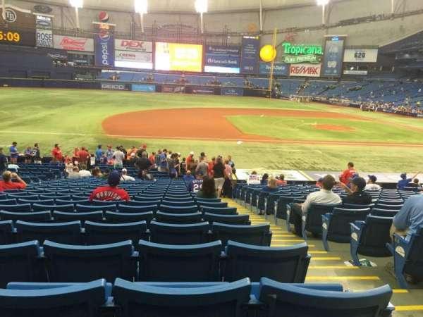 Tropicana Field, sección: 119, fila: BB, asiento: 10