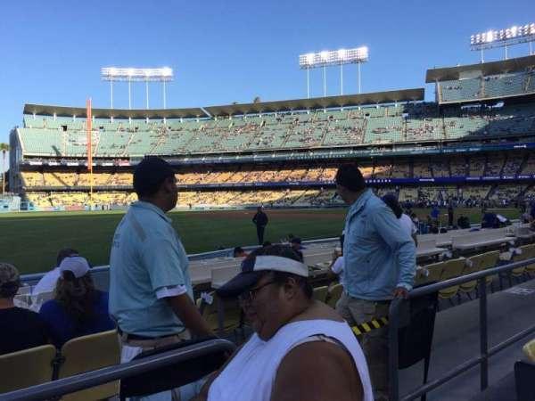 Dodger Stadium, sección: 45FD, fila: B, asiento: 4