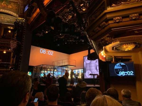 Belasco Theatre, sección: Orchestra R, fila: G, asiento: 18