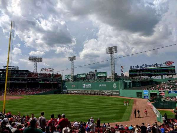Fenway Park, sección: Right Field Box 92, fila: KK, asiento: 5