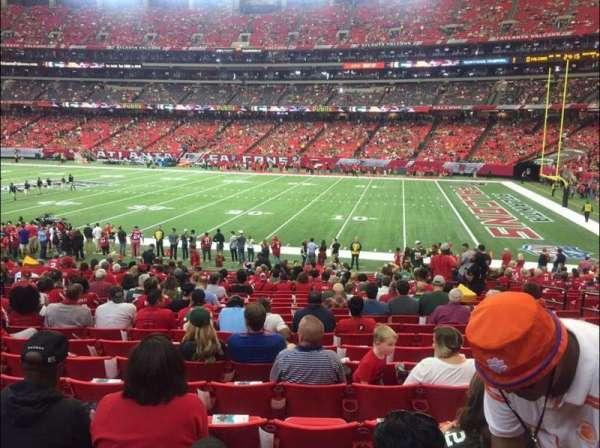 Georgia Dome, sección: 112, fila: 22, asiento: 8