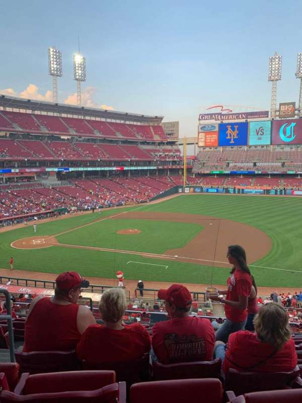 Great American Ball Park, sección: 304, fila: H, asiento: 14