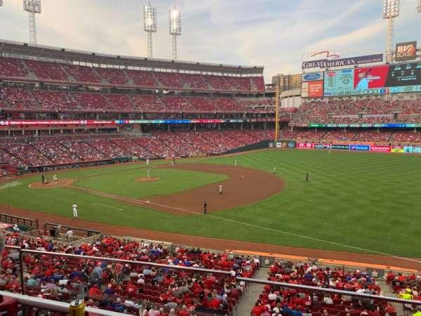Great American Ball Park, sección: 306, fila: B, asiento: 8