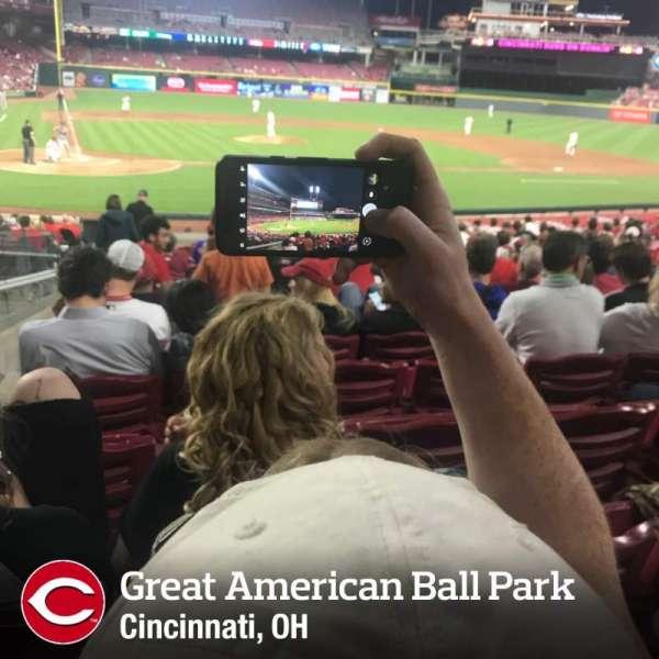 Great American Ball Park, sección: 127, fila: W, asiento: 14